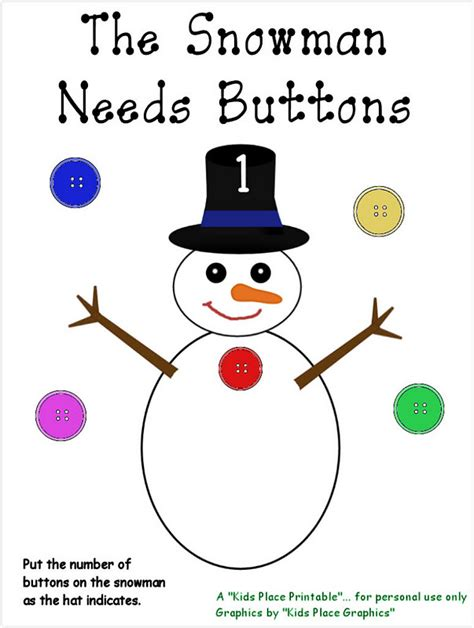 printable snowman activities for preschool quot the kids place quot home daycare and preschool the snowman