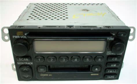 2004 Toyota Tacoma Radio 2001 2004 Toyota Tacoma Factory Am Fm Radio Cassette Cd