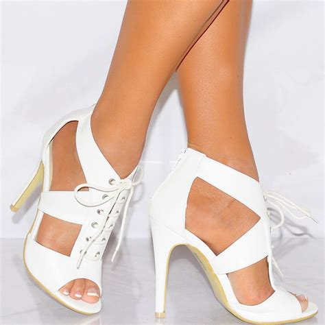 couture high heels koi couture white strappy sandals lace ups high heels shoes