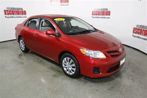 toyota of escondido used cars pre owned 2012 toyota corolla le 4dr car in escondido