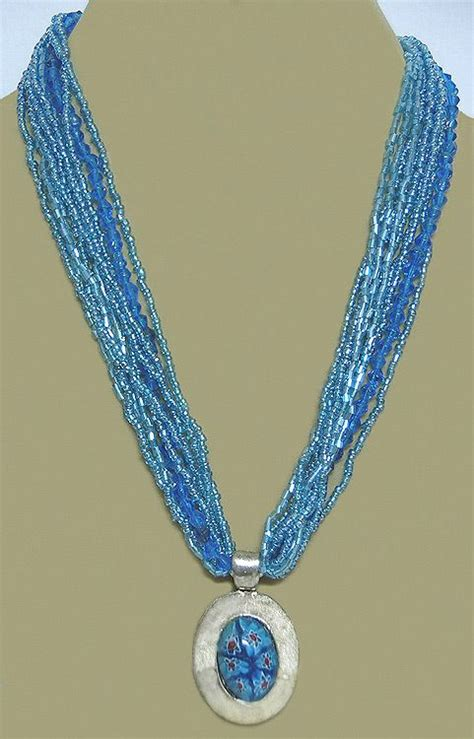 light blue beaded necklace light blue beaded necklace