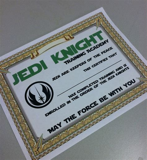 8 best images of star wars certificate printable star
