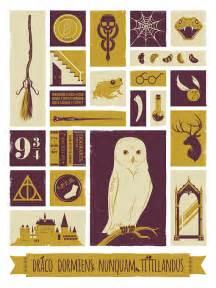 harry potter poster art print hogwarts design