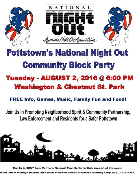National Out Flyer Template