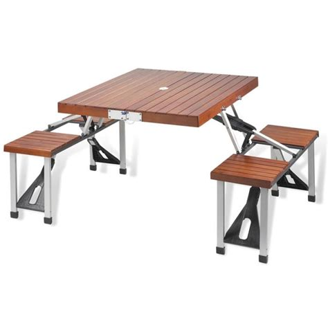Folding Wooden Picnic Table Picnic At Ascot Portable Folding Wooden Outdoor Picnic Table With 4 Seats Brown