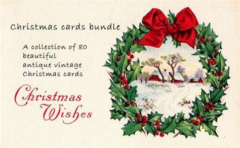 christmas card bundle   beautiful antique vintage etsy
