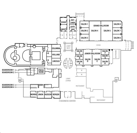 airport floor plan design business meeting venue in newark at the newark liberty international airport marriott