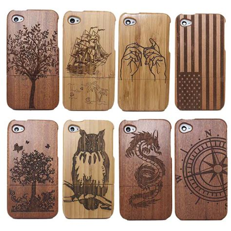 Wood For Iphone 4 4s 5 5s 6 6s 6 traditional bamboo sculpture wood phone covers for iphone 4 4g 4s 5 5s 6 6s 6plus tree ship