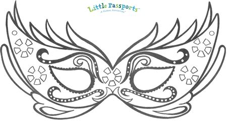 mardi gras mask template best photos of boy mask template outline clip