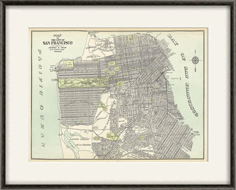 san francisco map to print san francisco map print map vintage maps antique map