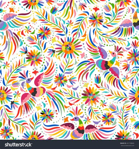 colorful ethnic wallpaper mexican colorful ornate ethnic seamless pattern stock