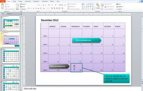 Insert Calendar In Powerpoint 2010