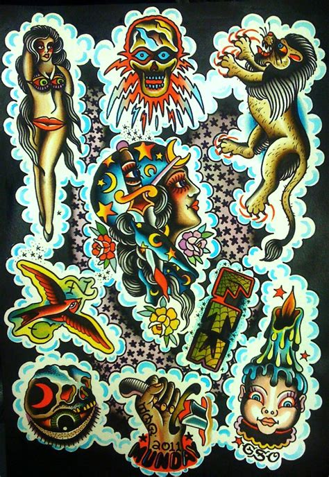 old school tattoo flash school munday