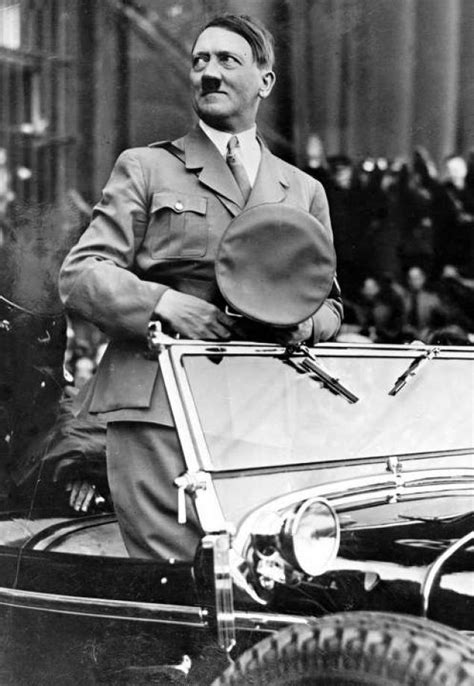 Hitler standing in car   Carolyn Yeager