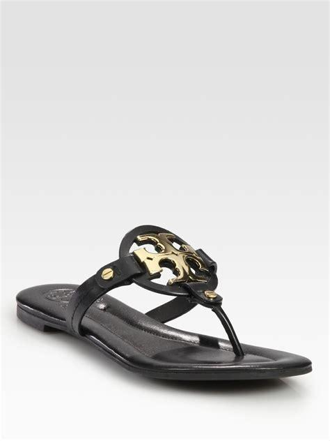 black burch sandals burch flat sandals in black lyst