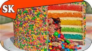 Rainbow Pinata Cake Simple Home Made Cake Batter Youtube
