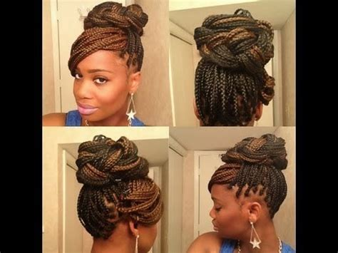 ways you can put braid weave in a donut bun 21 awesome ways to style your box braids and locs