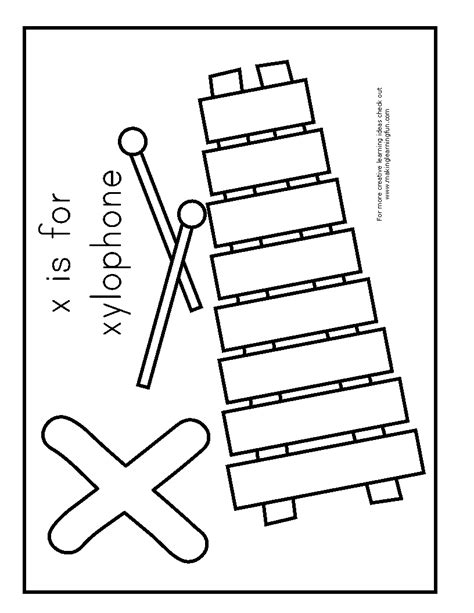 free coloring pages of xylophone capital x alphabet coloring pages free coloring page