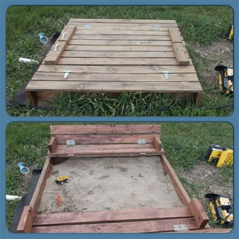 sandpit bench 25 best ideas about sandbox with lid on pinterest white