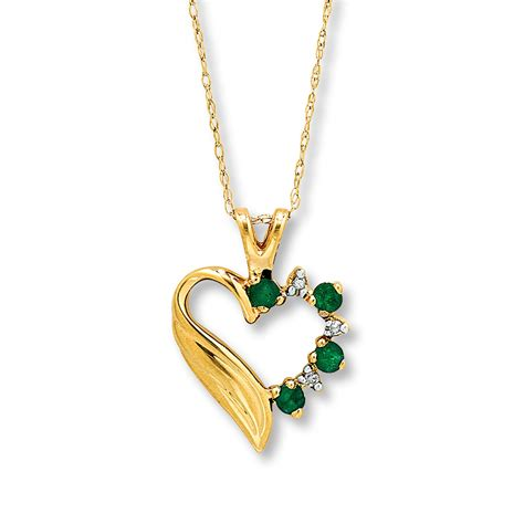jared emerald necklace accents 10k yellow gold