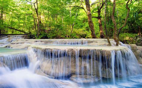 imagenes jardines de verano fondo de pantalla cascadas arboles bosque verano hd