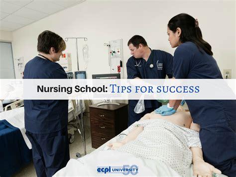 nursing school tips for success