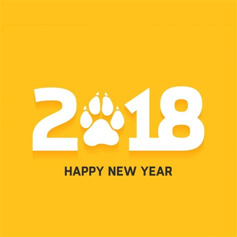 new year design 2018 happy new year 2018 text design vector free