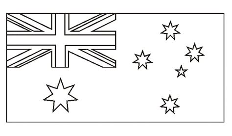 Australia Flag Coloring Page national flag of australia to color coloring pages