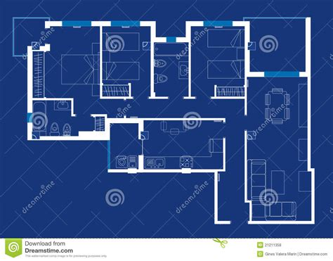 blue prints house house blueprint royalty free stock photos image 21211358