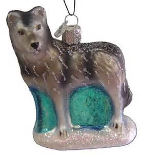 winter wolf christmas ornament 12202 old world christmas