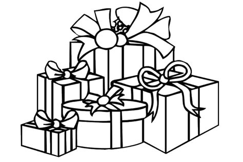 coloring page of christmas tree with presents christmas coloring pages overview with nice coloring pages