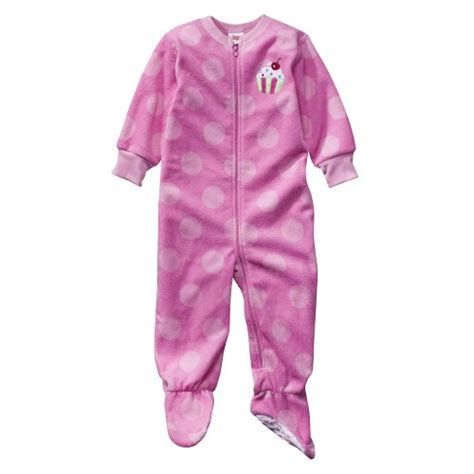 Circo Baby Sleepers by Infant Toddler Sleepwear Circo 174 Pink Dot Footed