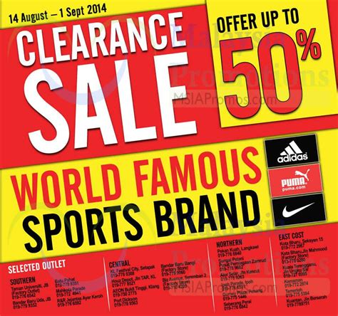 al ikhsan sports clearance sale bandar baru uda johor al ikhsan adidas puma nike clearance sale 14 aug 1 sep