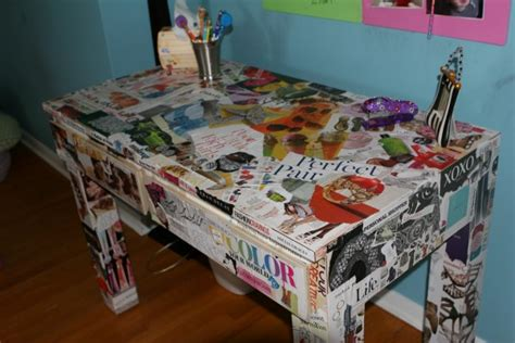 Decoupage A Desk - ucreative 3 tips for adding a creative cover to the
