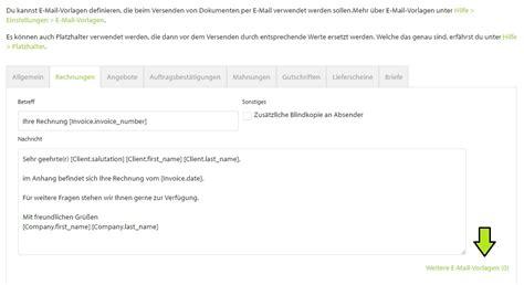 Angebot Email Text Mehrere E Mail Vorlagen Billomat