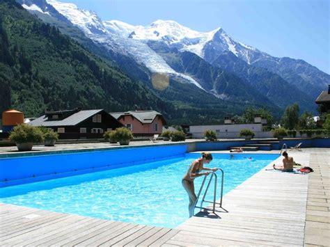 Outdoor Pools le beau site central chamonix apartment w pool amp mt blanc