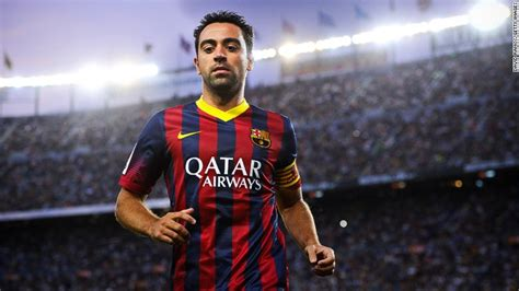 barcelona legend barcelona legend xavi unveils his ultimate footballer cnn