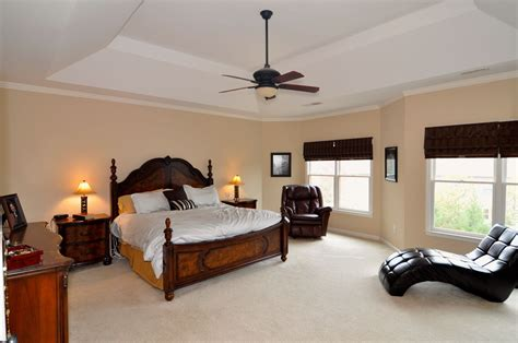 classic master bedroom classic master bedroom with white vaulted ceiling also wooden ceiling fan idea