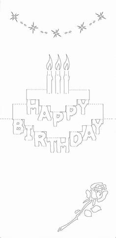 pop up cards printable templates happy birthday pop up card template printable world of label