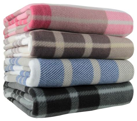 Throws And Blankets by Tartan Check Polar Fleece Throw Blanket Blue Black Pink