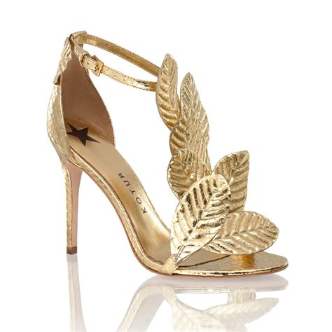 leaf shoes gilda gold leaf snakeskin sandal