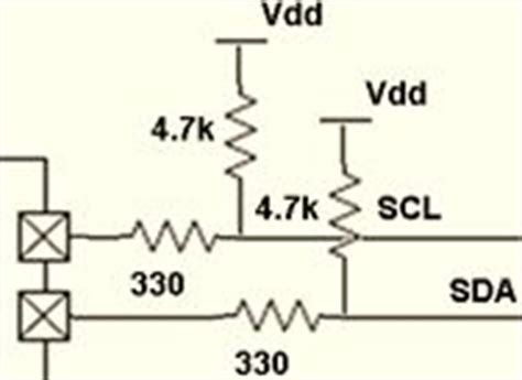 series resistors i2c i2c interference by serial communication