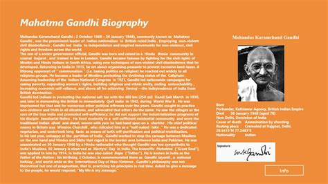 biography of mahatma gandhi mahatma gandhi biography for windows 8 and 8 1