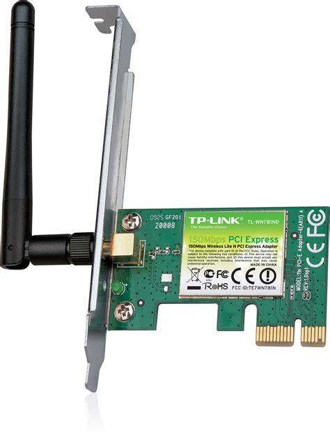 Pci Card Wireless Dlink To Deaktop Pc tp link tl wn781nd wireless n 150mbps pci e card welcome to 2moro it nz s top pc production