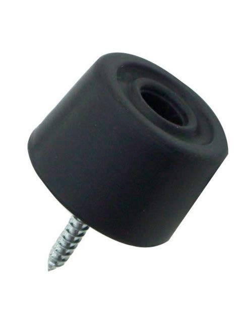 Rubber Door Knob Stopper by Welling Architectural Ironmongery Black Rubber Floor