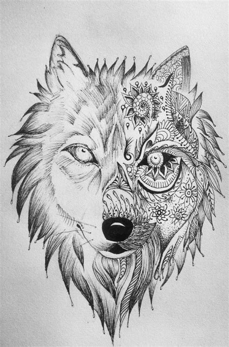 wolf tattoo designs tumblr wolf and moon tattoos
