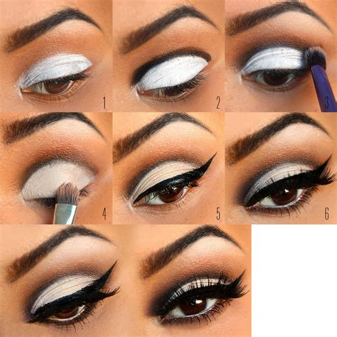 eyeshadow tutorial black and white the power of makeup for bigger eyes makeup mania