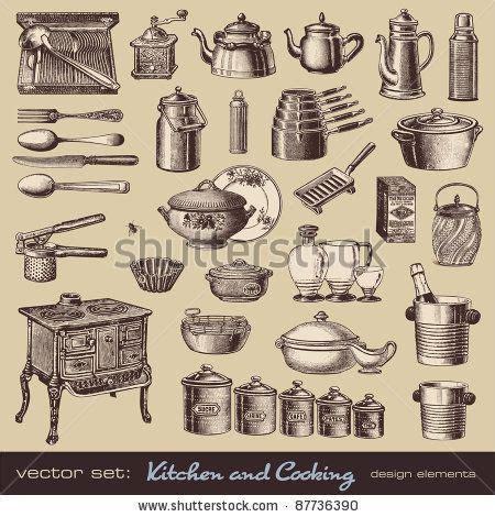 vintage kitchen illustration lisaasmith