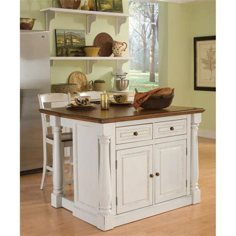 monarch antique white sanded distressed kitchen island home styles monarch kitchen island with two stools in