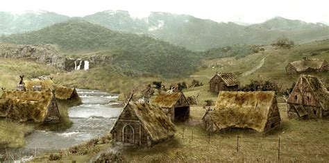 what does a landscaper do viking village illustration cool buildings and